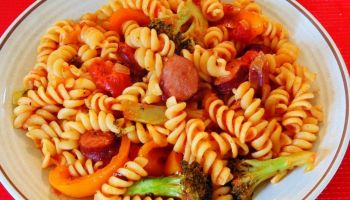 Pasta with Vegetables & Tomato Sauce
